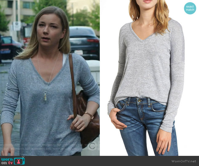 Theo Tee by Rag & Bone worn by Emily VanCamp on The Resident