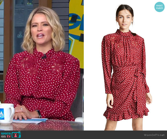 3D Heart Dress by Rebecca Taylor worn by Sara Haines  on Good Morning America