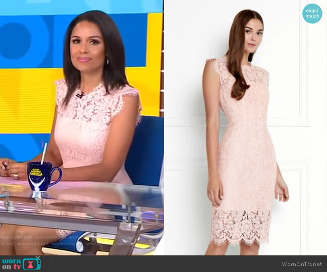 Suzette Dress by Rachel Zoe worn by Adrienne Bankert on Good Morning America
