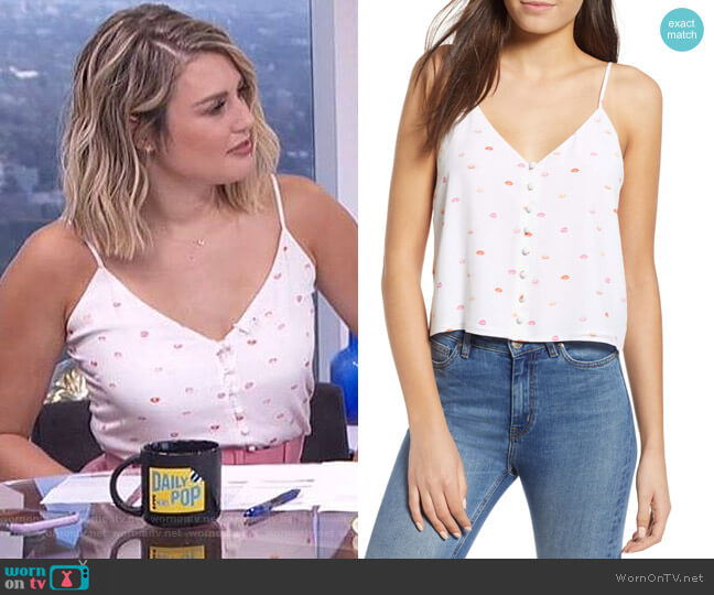 Aubrey V-Neck Silk Camisole by Rails worn by Carissa Loethen Culiner  on E! News