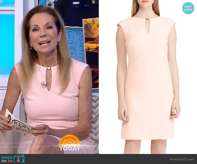 Keyhole Crepe Dress by Lauren Ralph Lauren worn by Kathie Lee Gifford on Today