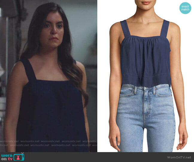 Gwyn Square-Neck Top by Ramy Brook worn by Idalia Valles on Queen of the South
