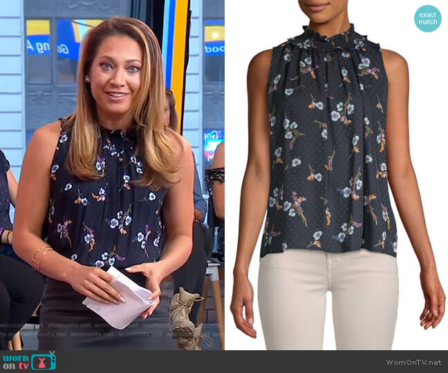 Natalie Top by Rebecca Taylor worn by Ginger Zee  on Good Morning America