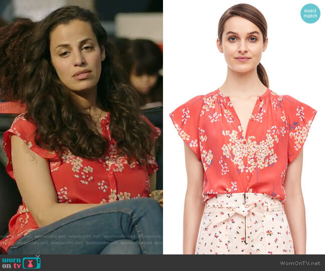 Phlox Top by Rebecca Taylor worn by Grace Stone (Athena Karkanis) on Manifest