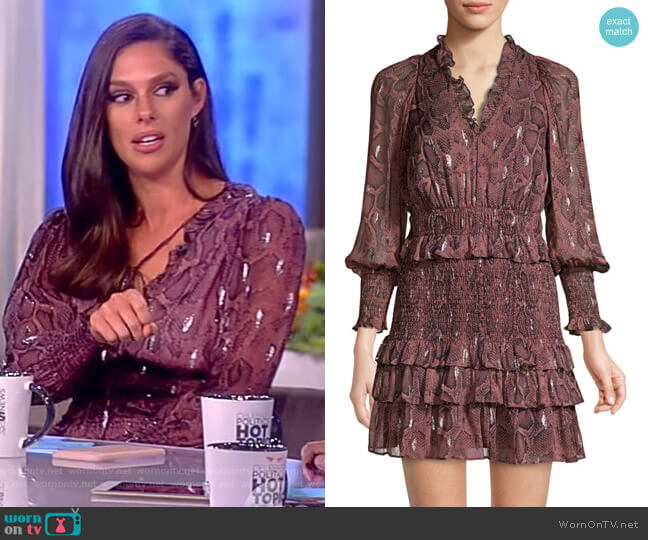 Snake Smock Dress by Rebecca Taylor worn by Abby Huntsman  on The View