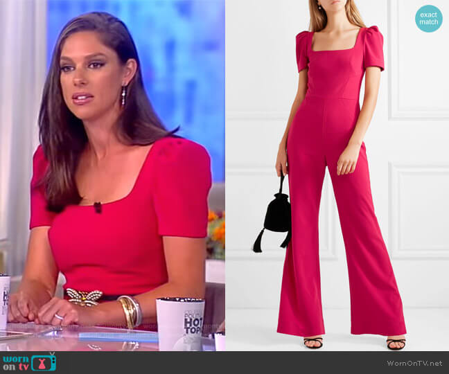 Poppy jumpsuit by Rebecca Vallance worn by Abby Huntsman on The View