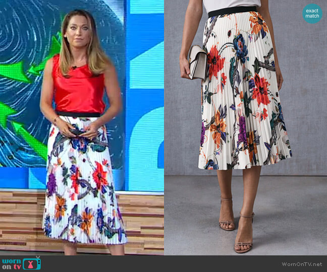 Mya Skirt by Reiss worn by Ginger Zee on Good Morning America