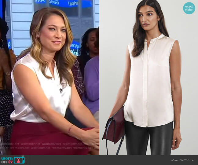 Lila Blouse by Reiss worn by Ginger Zee  on Good Morning America