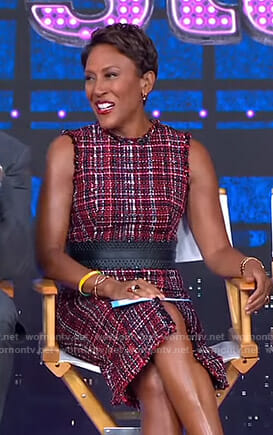 Robin's red tweed dress on Good Morning America