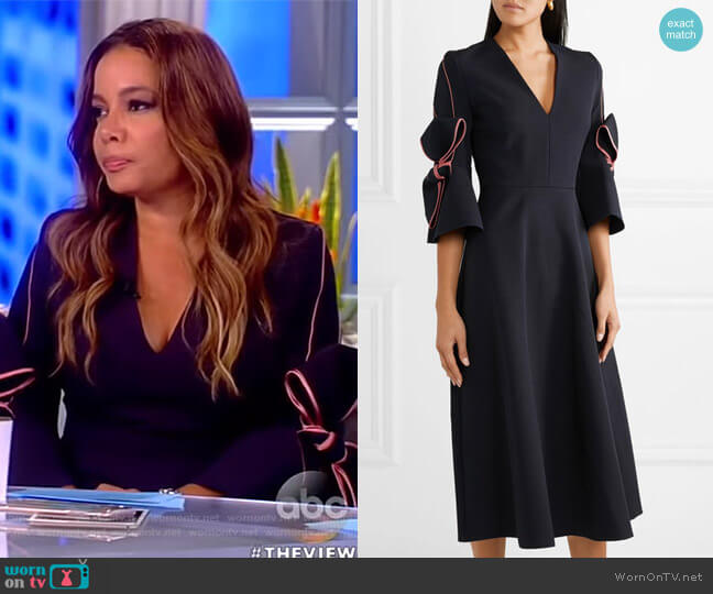 Sibella midi dress by Roksanda worn by Sunny Hostin on The View