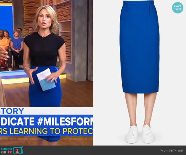 Arreton Skirt by Roland Mouret worn by Amy Robach  on Good Morning America