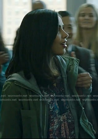Saanvi's blue printed v-neck top on Manifest