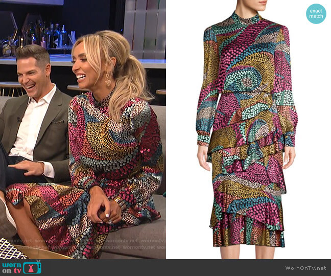 Isa Dress by Saloni worn by Giuliana Rancic on E! News