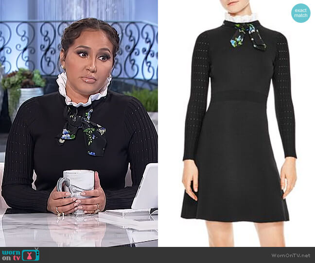 Clemence Dress by Sandro worn by Adrienne Houghton (Adrienne Houghton) on The Real