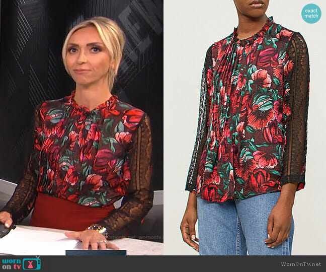 Leur Blouse by Sandro worn by Giuliana Rancic  on E! News