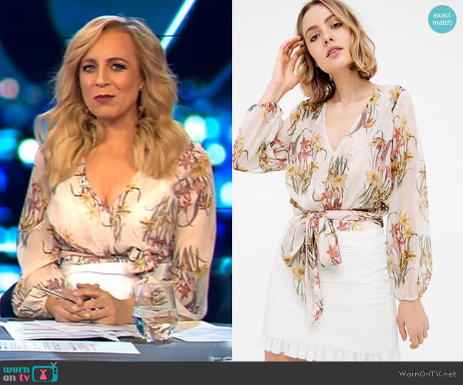 Impressions Blouse by Sheike worn by Carrie Bickmore  on The Project