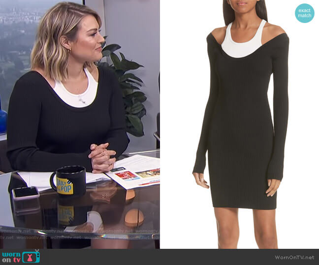 Layered Racerback Sweater Dress by T by Alexander Wang worn by Carissa Loethen Culiner on E! News