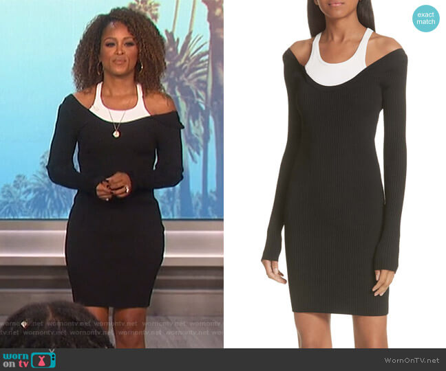 Layered Racerback Sweater Dress by T by Alexander Wang worn by Eve  on The Talk