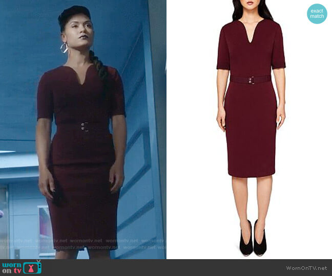 Jesabil Dress by Ted Baker worn by Grace Byers on The Gifted