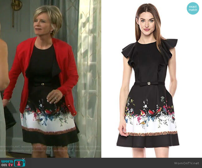 Shaelin Dress by Ted Baker worn by Mary Beth Evans on Days of our Lives