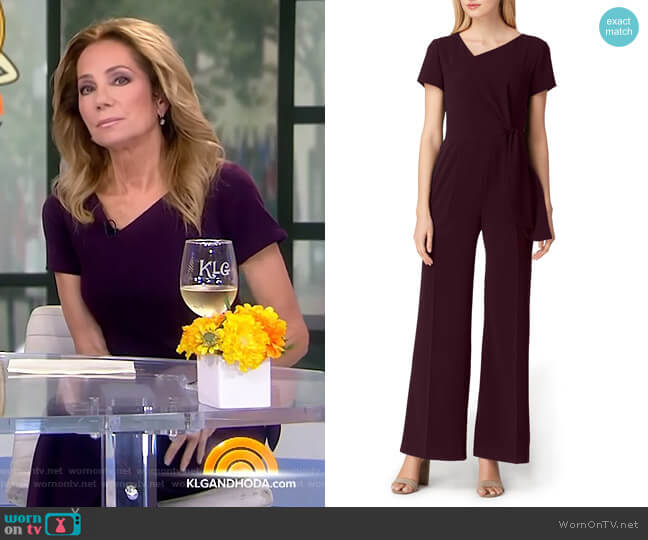 Tie Waist Crepe Jumpsuit by Tahari ASL worn by Kathie Lee Gifford  on Today