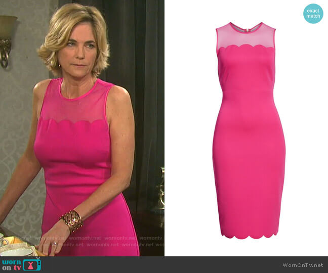 Clowva Dress by Ted Baker worn by Eve Donovan (Kassie DePaiva) on Days of our Lives