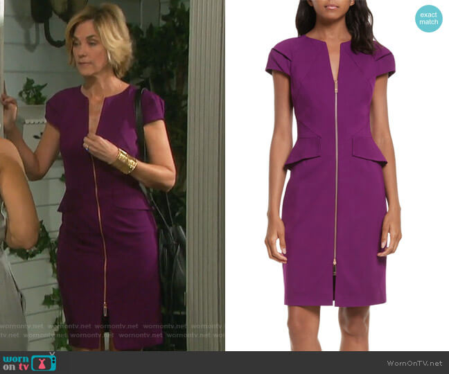 Fidelle Dress by Ted Baker London worn by Kassie DePaiva on Days of our Lives