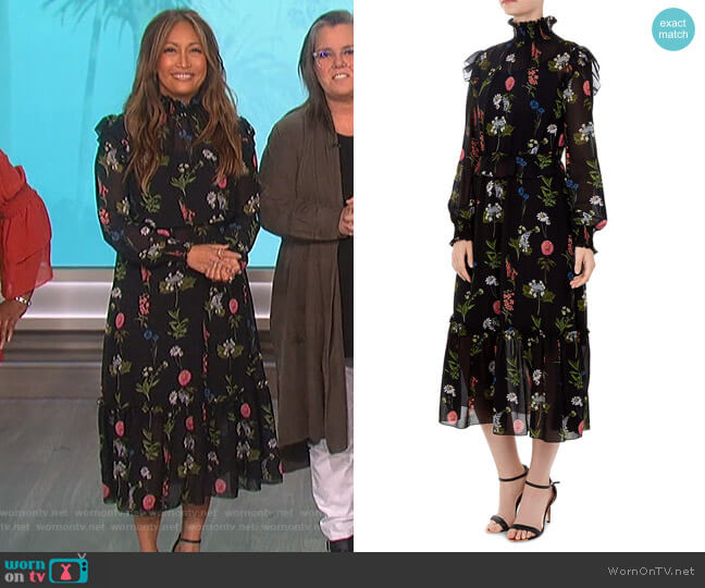 Simarra Florence Midi Dress by Ted Baker worn by Carrie Inaba (Carrie Inaba) on The Talk