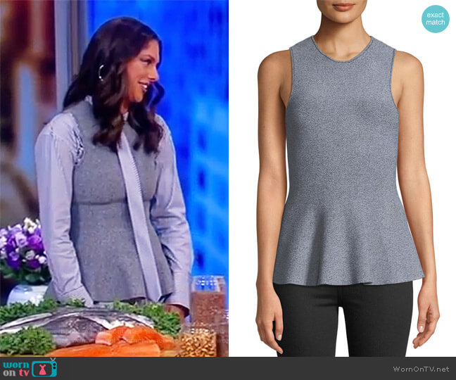 Crewneck Sleeveless Classic Peplum by Theory worn by Abby Huntsman on The View