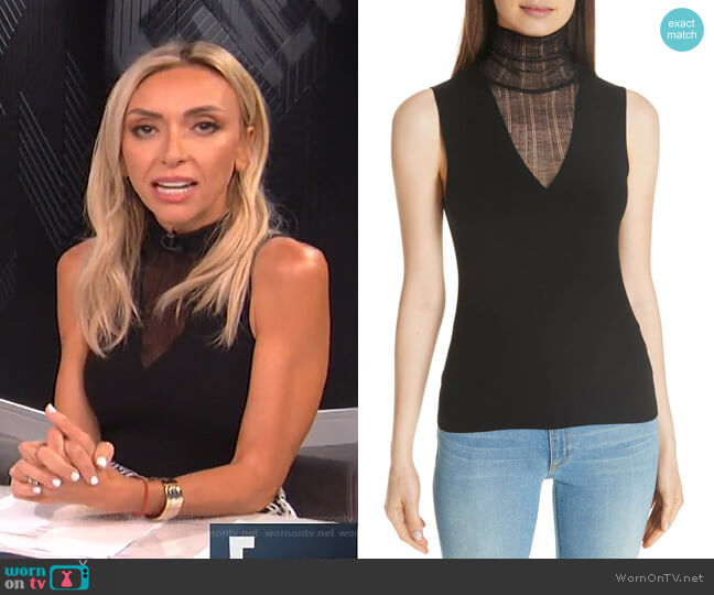 Faux Double Layer Shell by Theory worn by Giuliana Rancic  on E! News