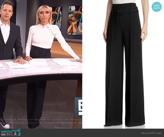 High-Waist Wide-Leg Pants by Theory worn by Giuliana Rancic on E! News
