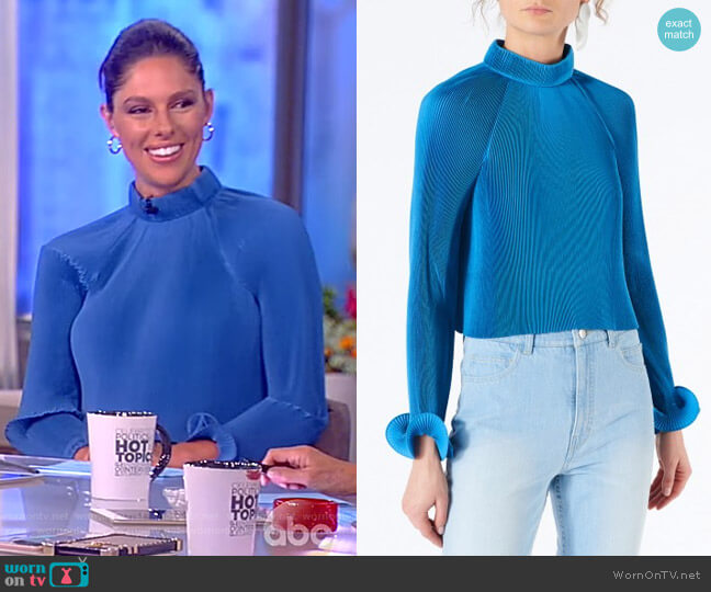 Pleated Cropped Top by Tibi worn by Abby Huntsman  on The View