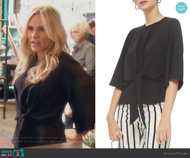 Slouchy Knot Front Blouse by Topshop worn by Tamra Judge  on The Real Housewives of Orange County