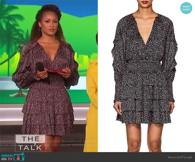 Soraya Floral Tiered Minidress by Ulla Johnson worn by Eve  on The Talk