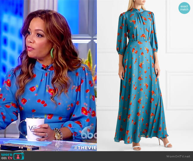 Caroline dress by Velshenko worn by Sunny Hostin (Sunny Hostin) on The View
