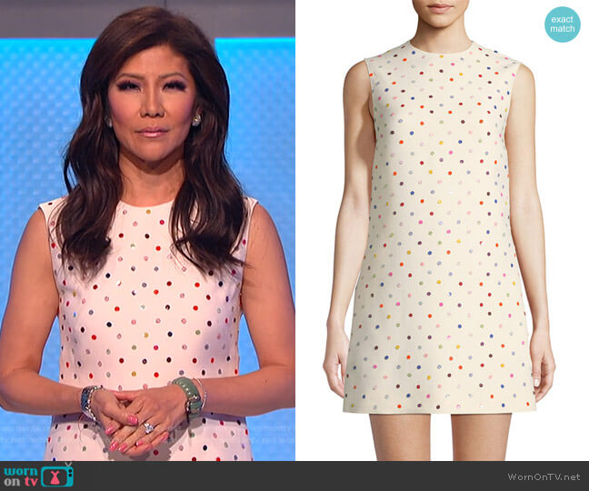 Polka-Dot Crepe Couture Dress by Valentino worn by Julie Chen on The Talk