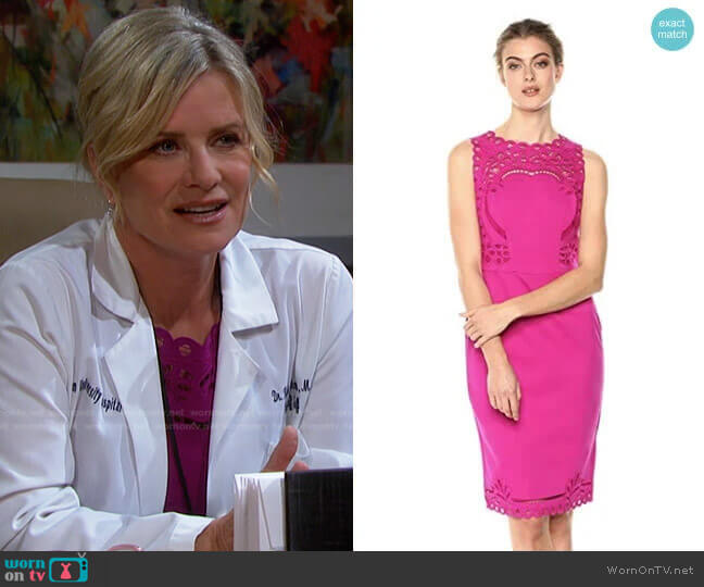 Verita Dress in Fuchsia by Ted Baker worn by Kayla Brady (Mary Beth Evans) on Days of our Lives