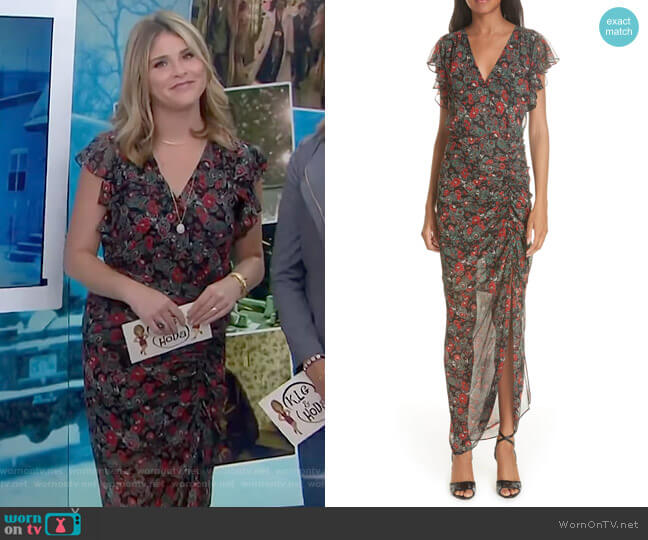 Cecile Dress by Veronica Beard worn by Jenna Bush Hager  on Today