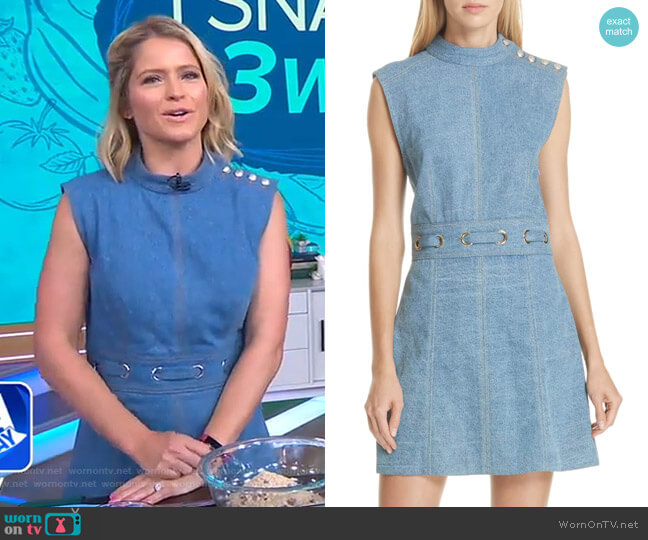 Nico Dress by Veronica Beard worn by Sara Haines on Good Morning America