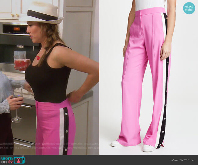 Russo Trousers by Veronica Beard worn by Kelly Dodd on The Real Housewives of Orange County