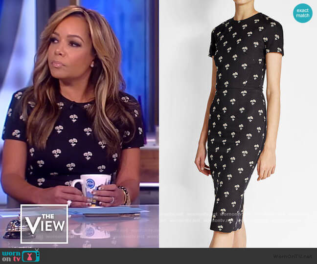 Floral-Print Sheath Dress by Victoria Beckham worn by Sunny Hostin  on The View