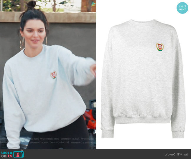 Calabasas Crest Hoodie by Yeezy worn by Kendall Jenner  on Keeping Up with the Kardashians