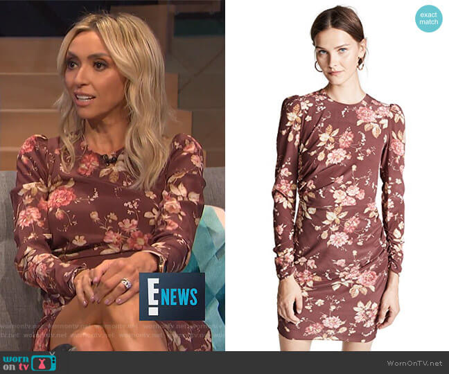 Unbridled Draped Mini Dress by Zimmermann worn by Giuliana Rancic  on E! News