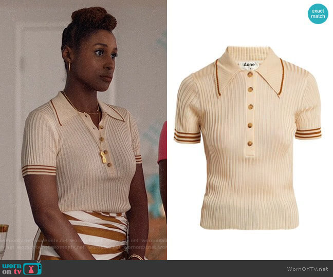 Acne Studios Shanita Polo Top worn by Issa Rae on Insecure
