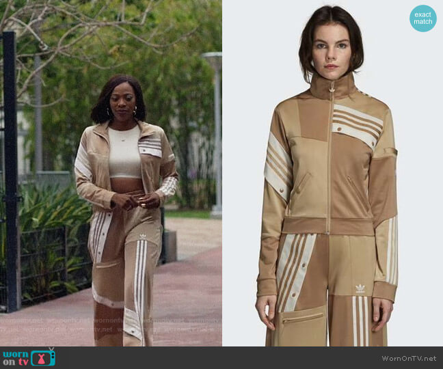 Adidas by Danielle Cathari Deconstructed Track Jacket and Pants worn by Molly Carter (Yvonne Orji) on Insecure