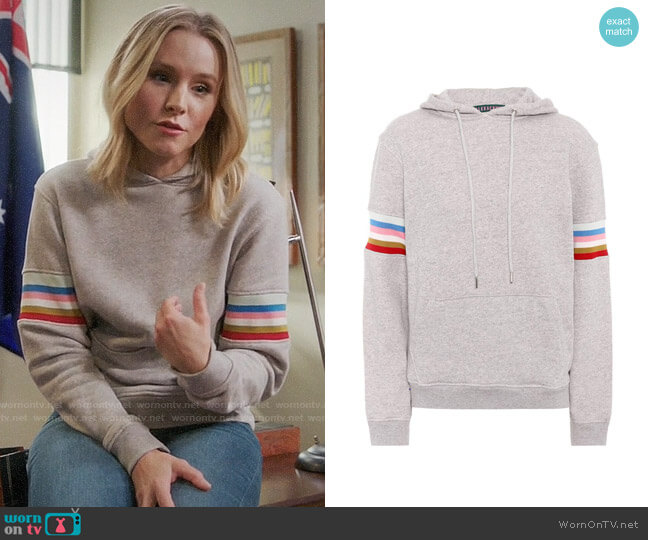 Alexa Chung Cotton Hoodie worn by Eleanor Shellstrop (Kristen Bell) on The Good Place