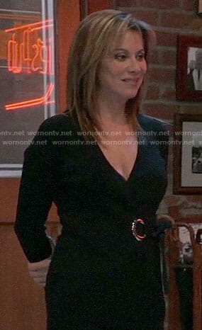 Alexis's black ring detail sweater on General Hospital