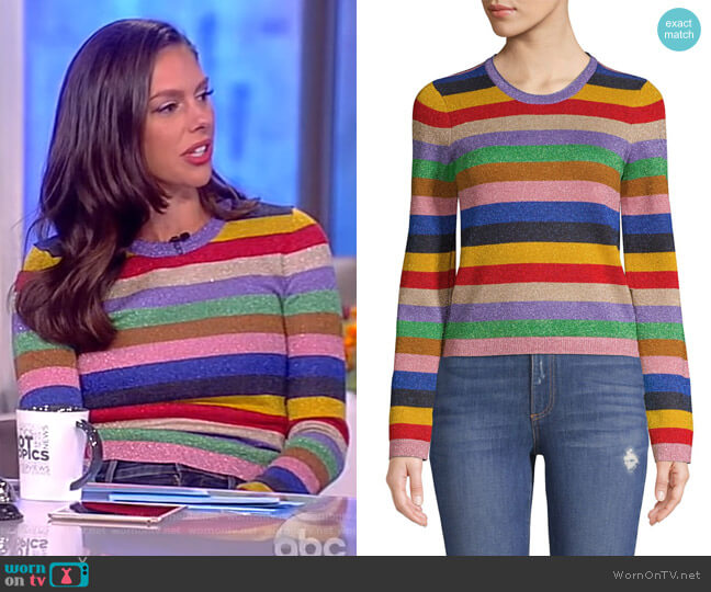 Rhodes Striped Pullover by Alice + Olivia worn by Abby Huntsman  on The View