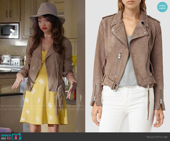 All Saints Plait Balfern Jacket worn by Haley Dunphy (Sarah Hyland) on Modern Family