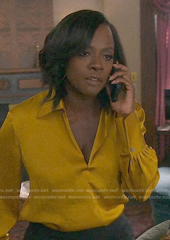 Annalise's yellow blouse on How to Get Away with Murder